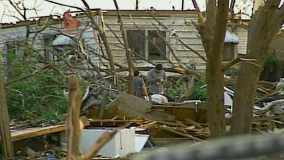 Twenty-five percent of structures were damaged in the tornado. (Source: CNN)