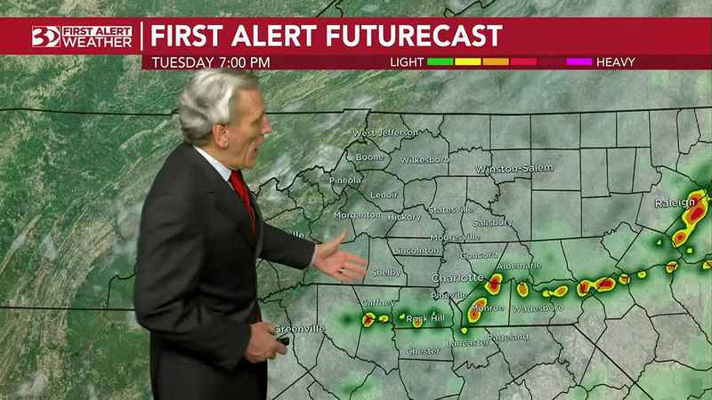 First Alert Tuesday: Strong storms with damaging winds, heavy downpours possible