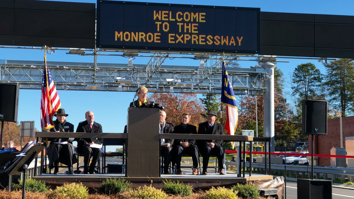 Union County Officials Announce Opening of Monroe Expressway.