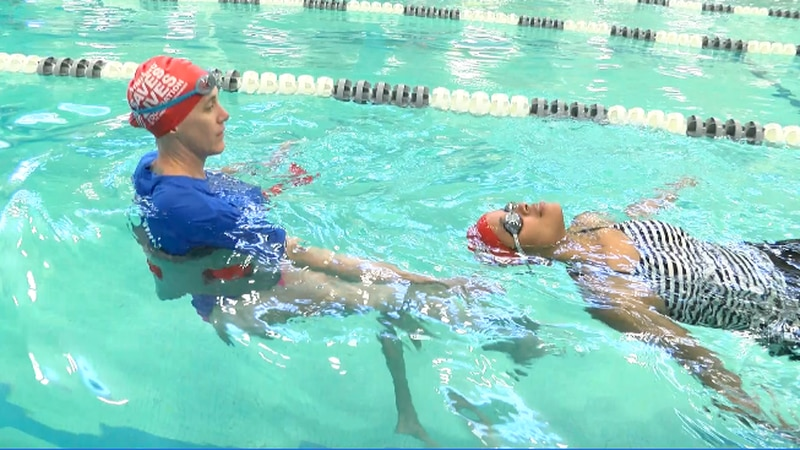 I had NO idea coming into my first swimming lesson that, an hour later, I'd be swimming on my...