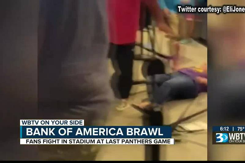Viral videos show people fighting at Bank of America Stadium after game