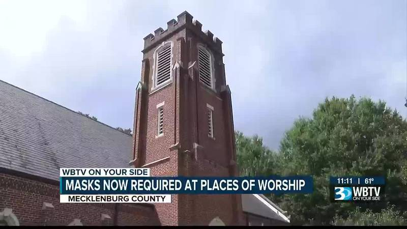 Starting Wednesday, houses of worship across Mecklenburg County are required to abide by the...