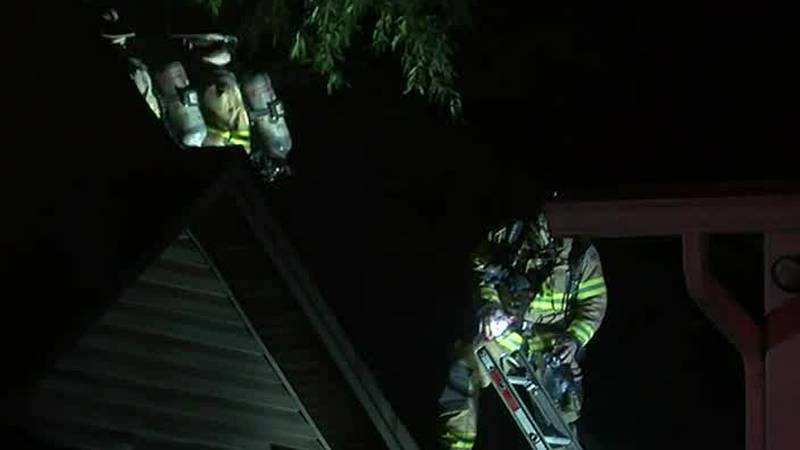Crews were called to a house fire in northeast Charlotte late Tuesday night.
