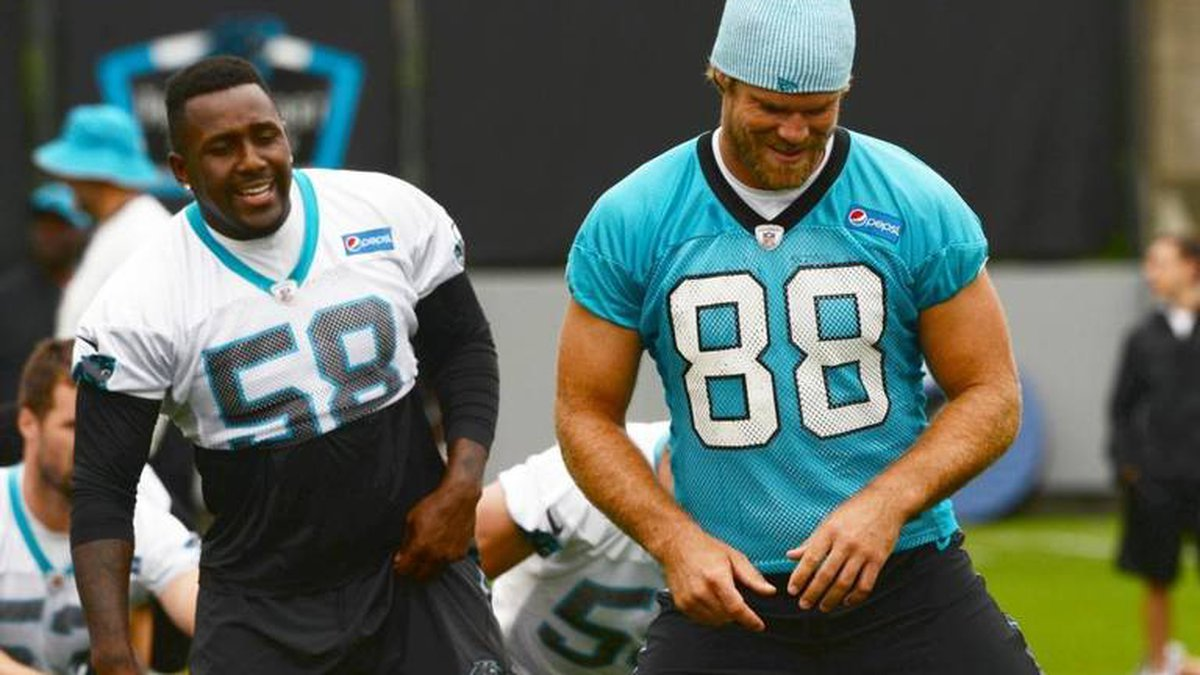 Thomas Davis (58) and Greg Olsen (88) will both sign one-day contracts on March 11 to retire as...
