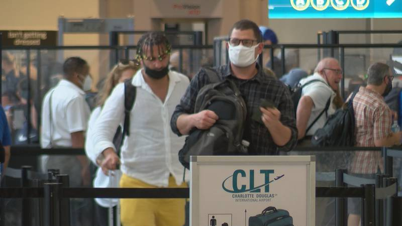 Officials from Charlotte Douglas International Airport are anticipating crowds that are near...