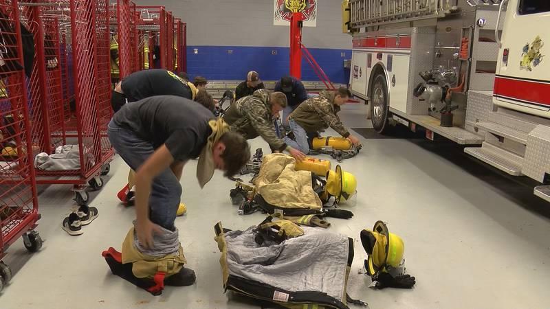 Lancaster County volunteer firefighters