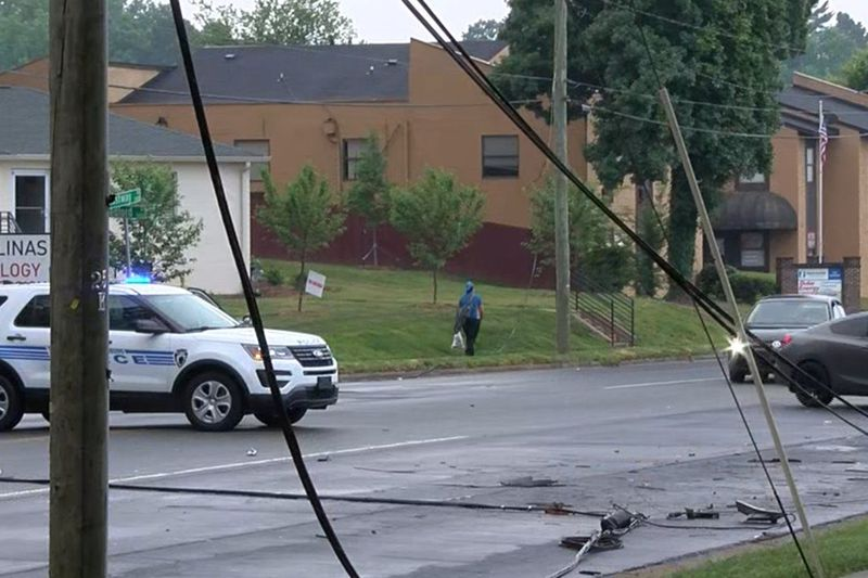 A crash involving downed power lines in east Charlotte Wednesday morning, closing part of...
