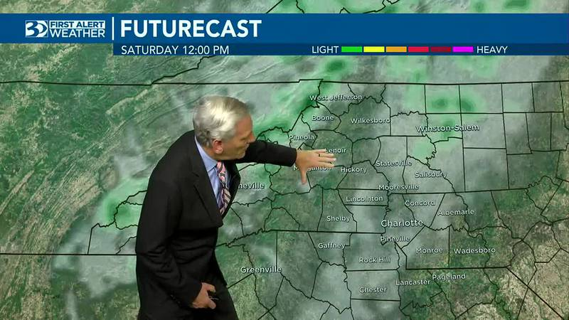 Spotty rain to start the weekend with cooler temperatures ahead