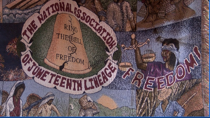 Hundreds celebrate the Juneteenth holiday amidst back drop of continued protests