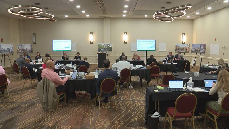 Charlotte councilmembers receive an update on the Transformational Mobility Network during...