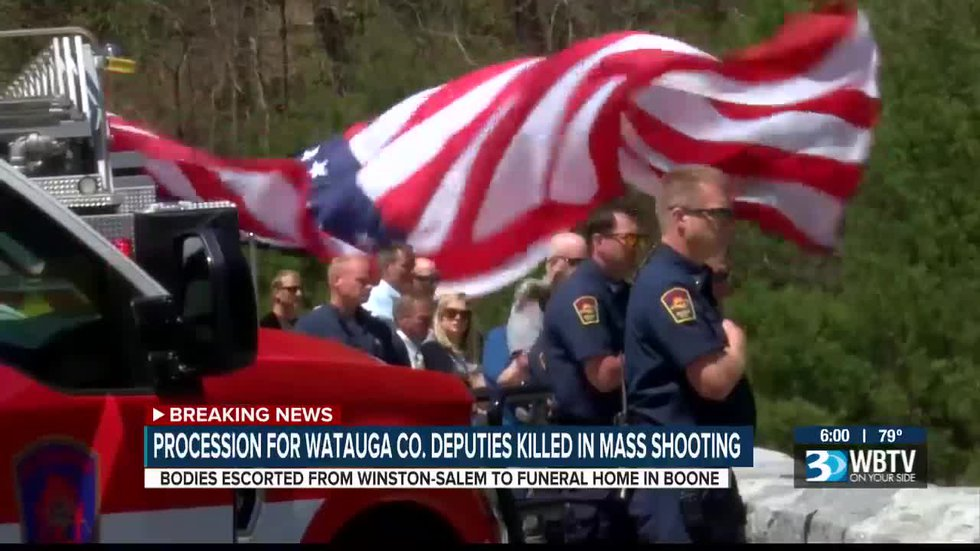Procession for Watauga Co. deputies killed in mass shooting