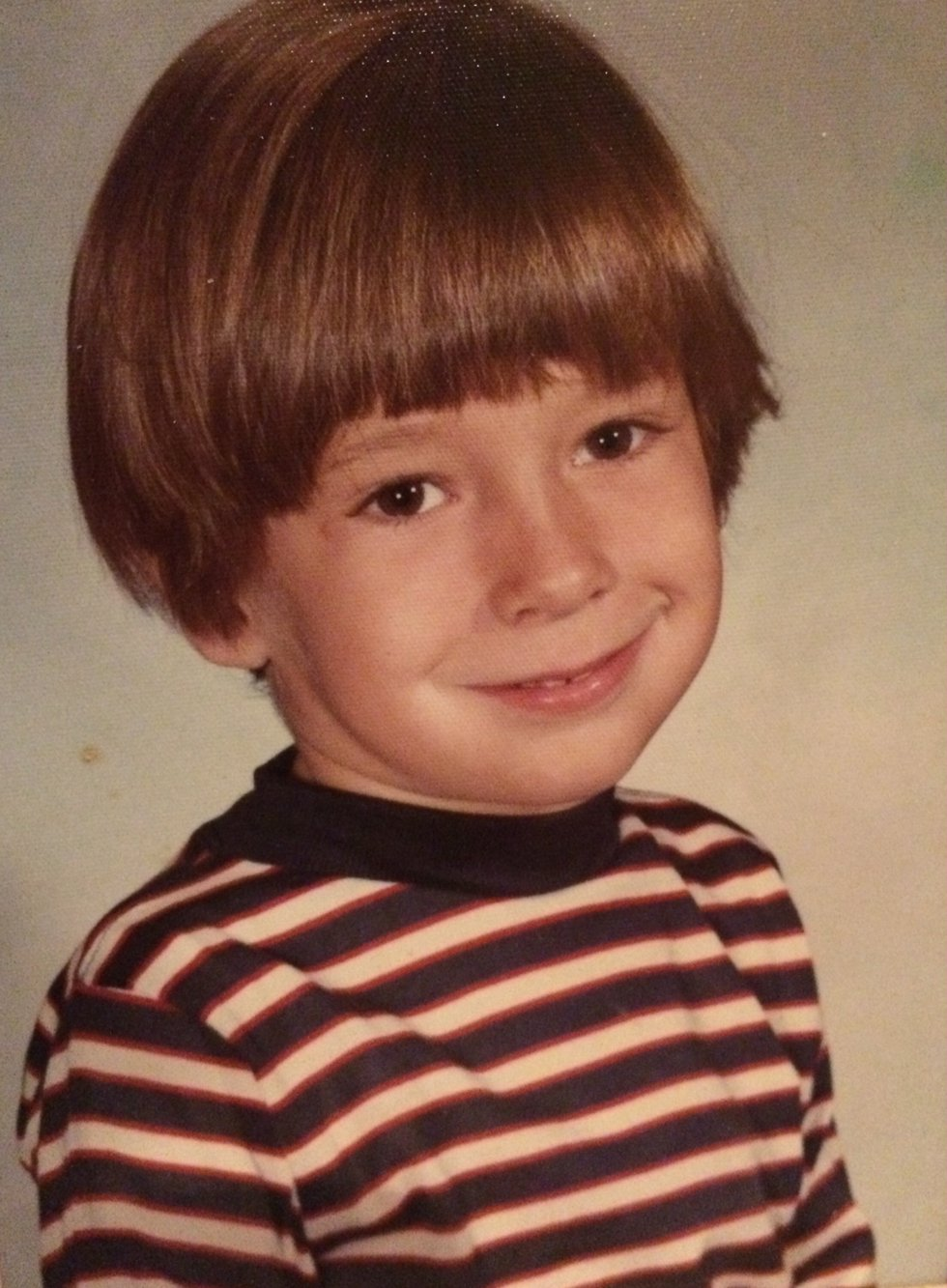Jamie Boll rocking the hair and stripes!