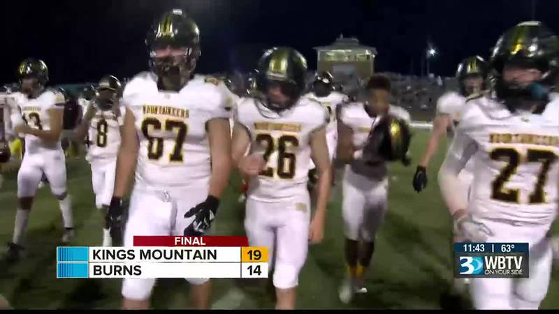 Big win for Kings Mountain as they beat rival Burns 19-14 to give the Bulldogs their first loss...
