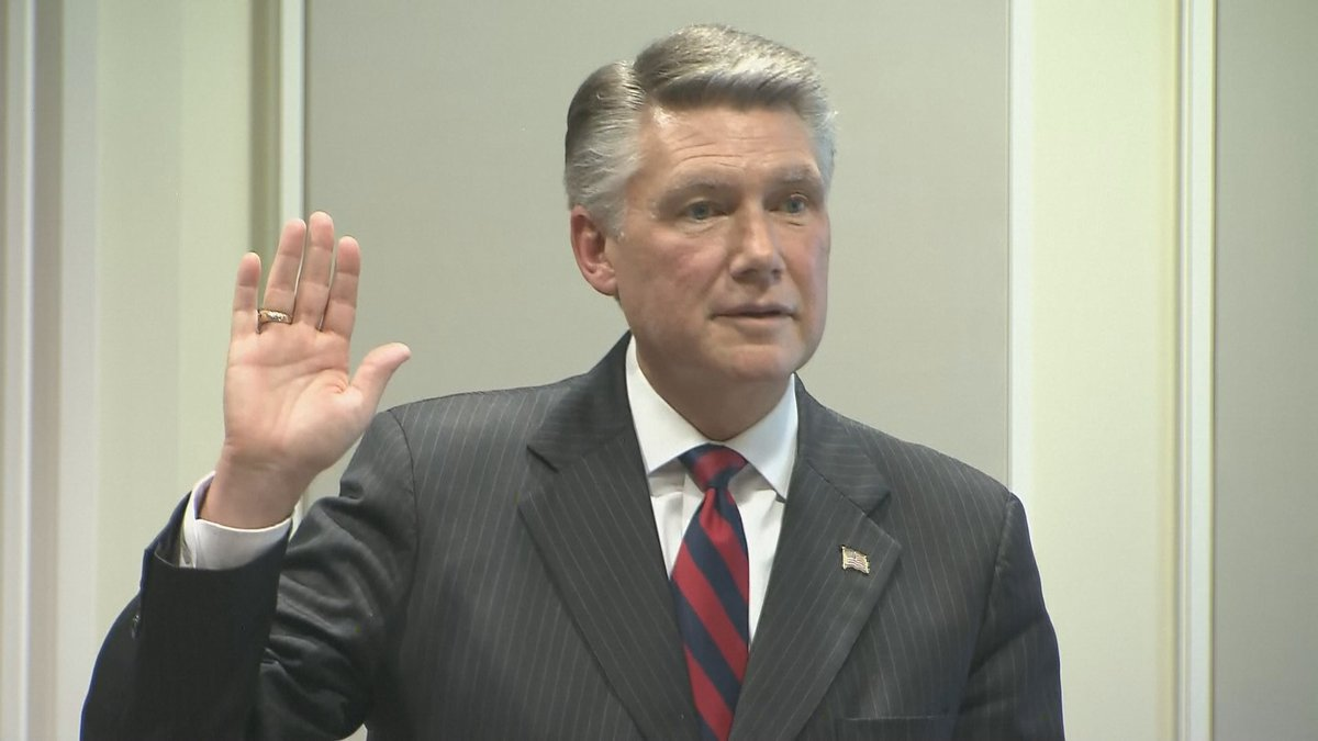 Republican Mark Harris takes the stand during day four of the NC09 election fraud hearing....