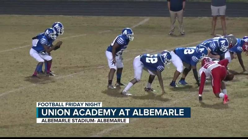 Albemarle picks up their 2nd win of the season as they beat Union Academy 46-20.