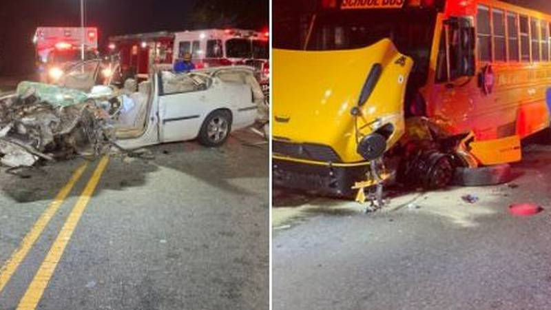 One injured in crash involving school bus in Charlotte, authorities say