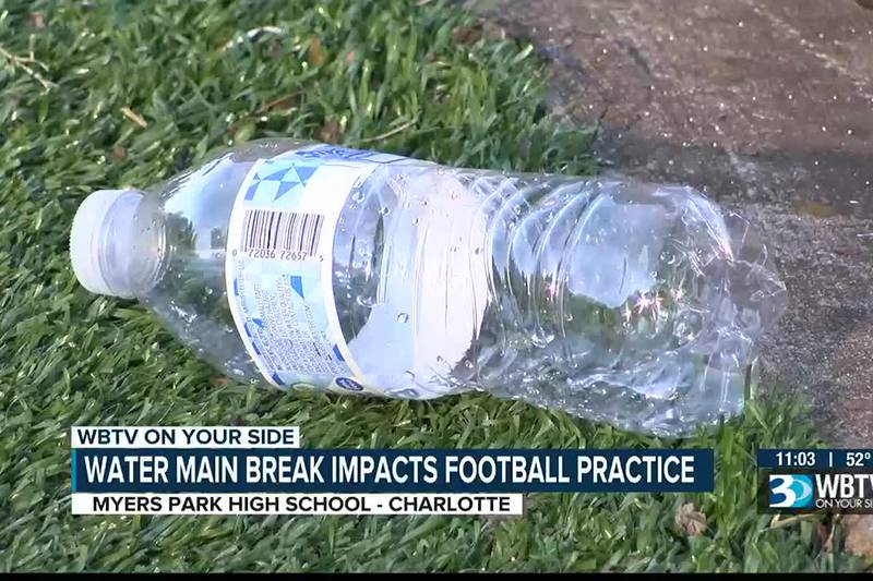 Water main break in Charlotte impacts football practices and businesses