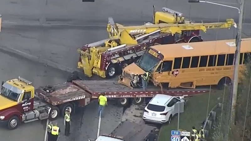A Bandys High School bus was involved in a deadly three-vehicle crash Thursday in Catawba County.
