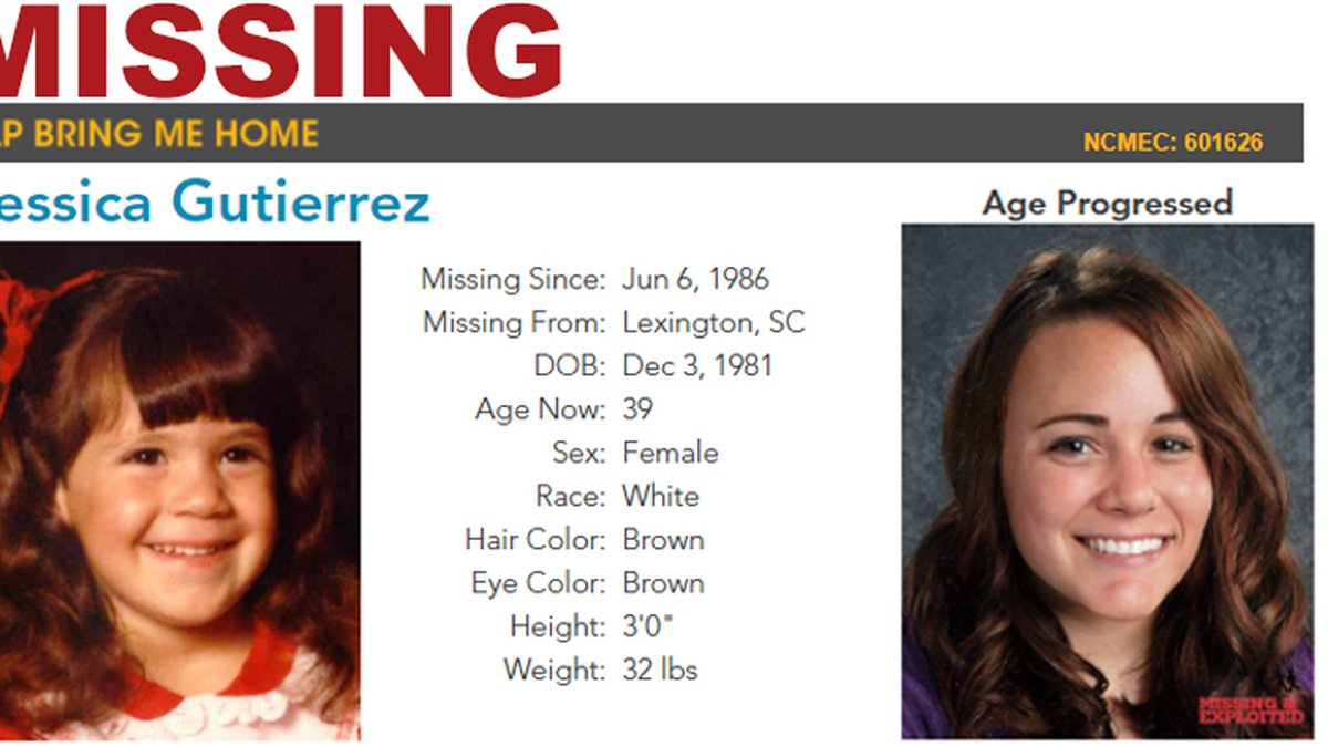 Detectives say Gutierrez was 4-years-old when she was kidnapped from her home in June 1986.