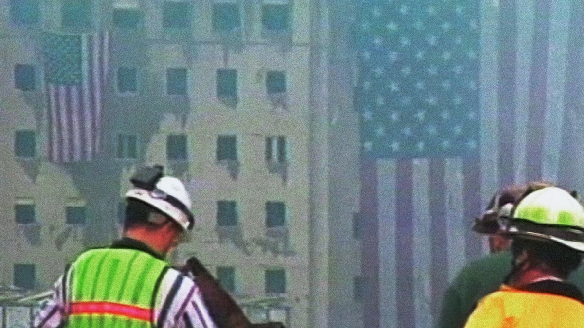 Scene from Ground Zero following the events of September 11, 2001