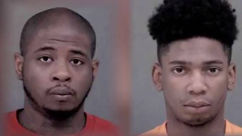 Police say Quanterious Whatley (left) and Tyrek Hendrix (right) have been charged with seven...