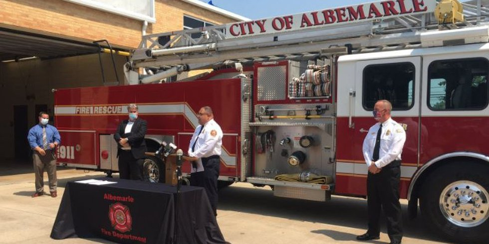 COVID-19 outbreak hits Albemarle Fire Department, three firefighters hospitalized