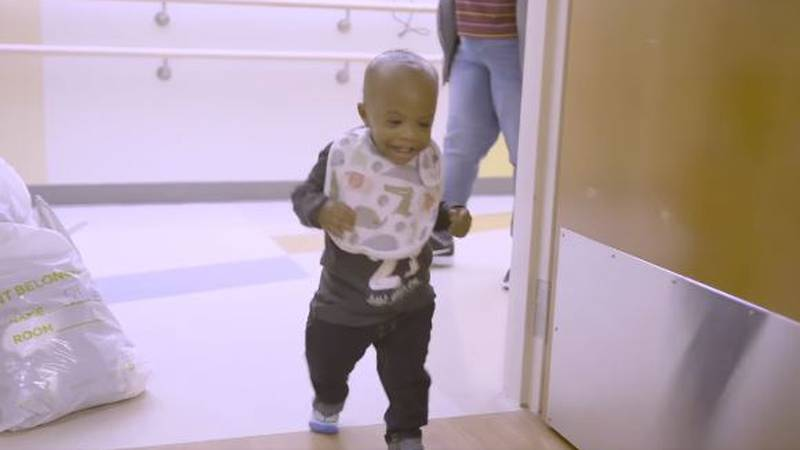 P.J. heads home for the first time after receiving a new heart