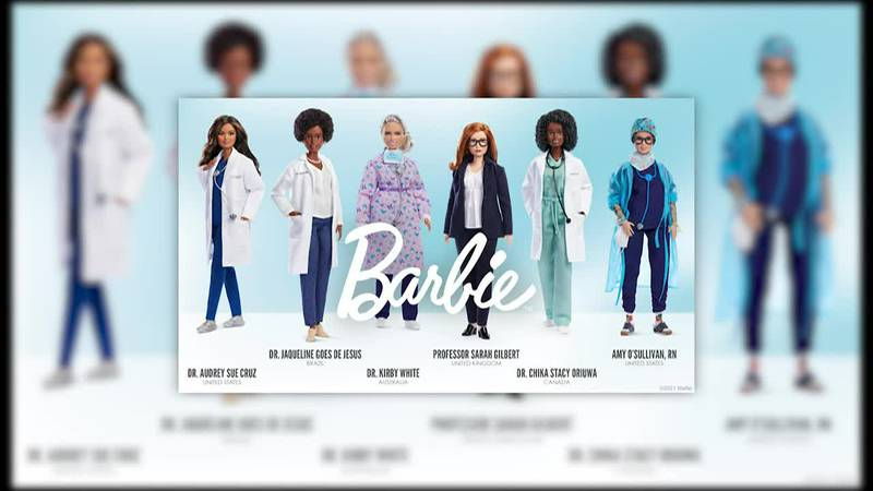 Mattel honored global frontline medical workers with one-of-a-kind Barbie dolls.