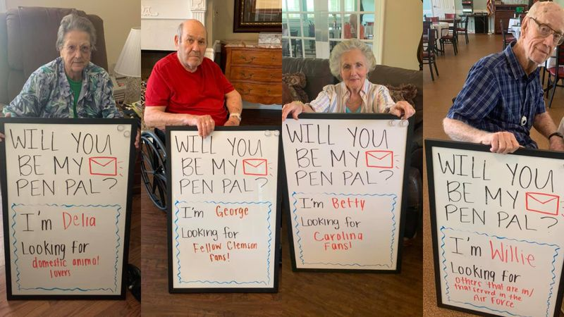 These are just a few of the residents at Generations of Chapin looking for pen pals.