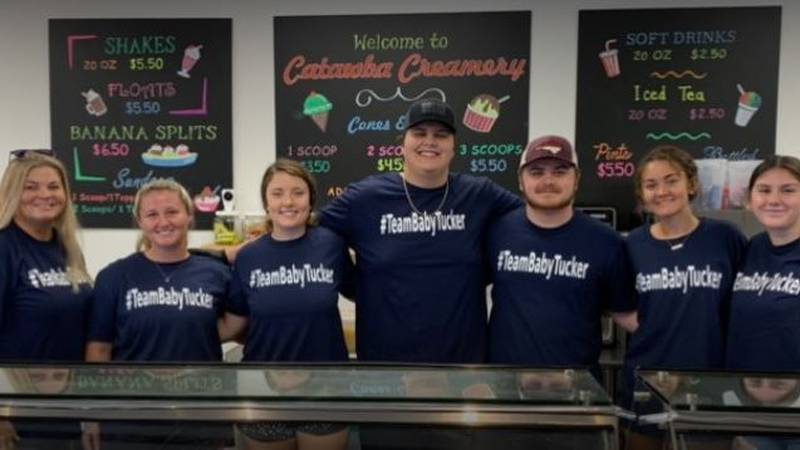 Catawba Co. ice cream shop hosts fundraiser for 2-month-old fighting for life from serious car...