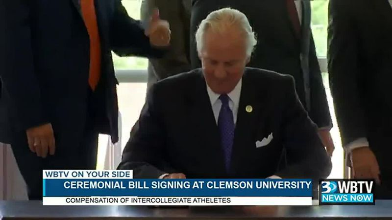 South Carolina Governor Henry McMaster holds a ceremony for a bill he signed to allow...