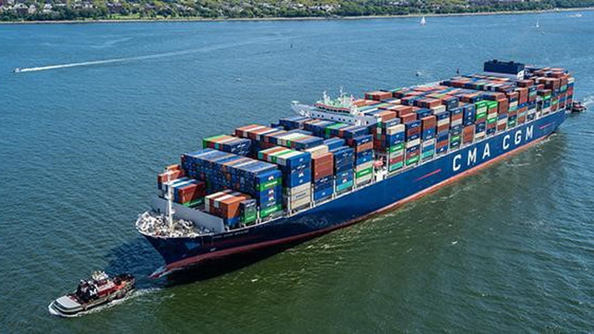 The Brazil is the largest container ship ever to serve the U.S. East Coast, with a capacity of...