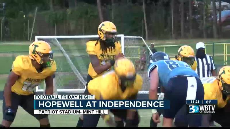 Independence gets the first win for new head coach DJ McFadden as they beat Hopewell 51-0.