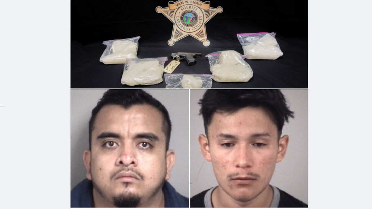 Drugs and a gun were seized, and two arrested in Kannapolis.