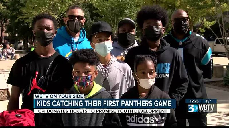 Kids catching their first Panthers game