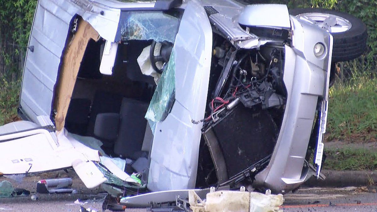 The other vehicle involved in the collision