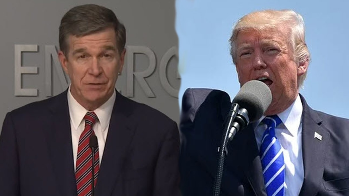 North Carolina Governor Roy Cooper has responded to tweets from President Donald Trump...