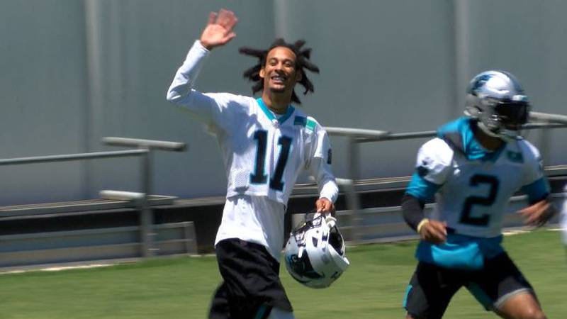 After missing the 3 weeks of Panthers OTA, wide receiver Robby Anderson was back in Charlotte...