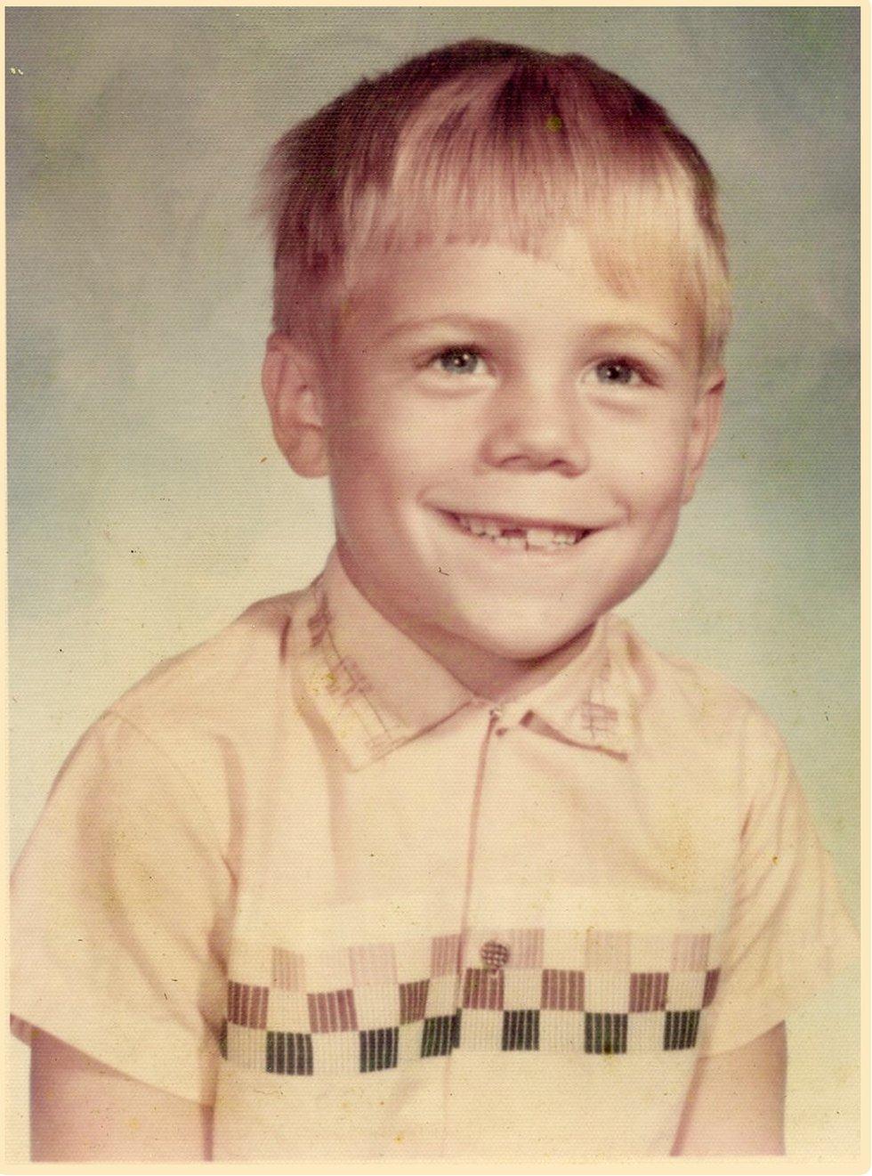 Al Conklin as a second grade student in 1971
