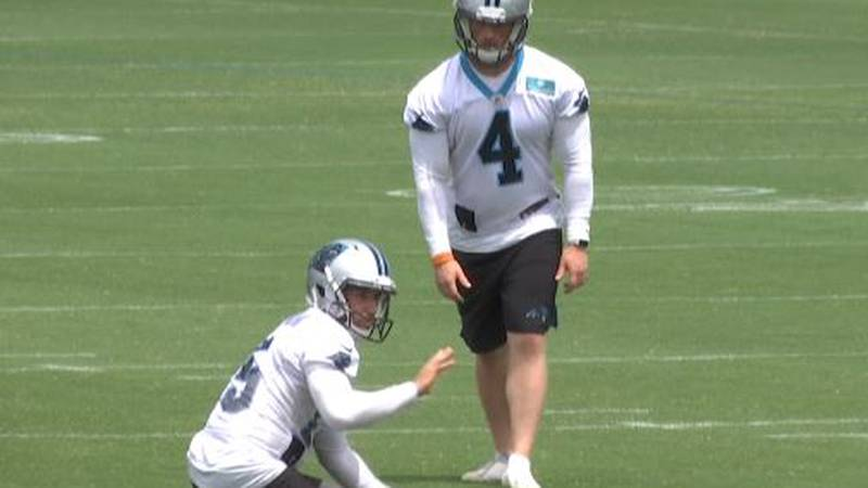 Joey Slye went a disappointing 2 for 5 kicking field goals in Wednesday's practice.