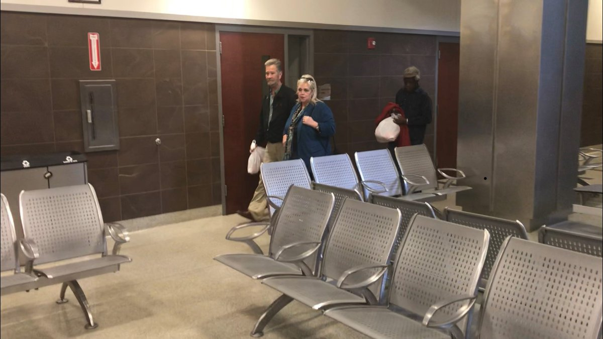 McCrae Dowless and his attorney leave the Wake County Jail.