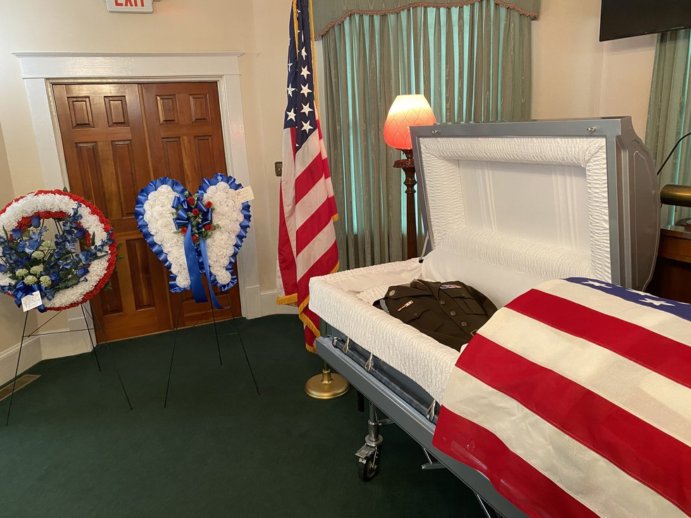 A wake was held for Pfc. Louis Nelson Crosby at Thompson Funeral Home in Orangeburg on Tuesday.