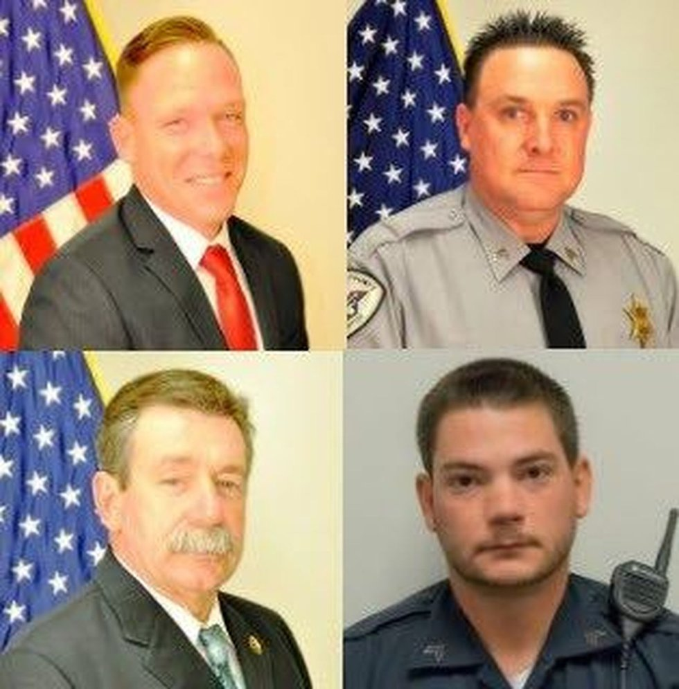 Detective Mike Doty (top left), Sgt. Buddy Brown (top right), Sgt. Randy Clinton (bottom left),...