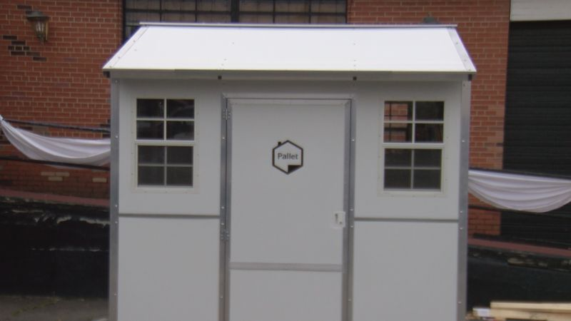 Charlotte business owner Mark Middlesworth had a tiny home constructed in the parking lot of...