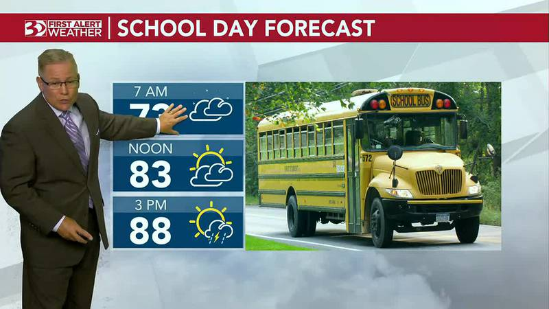 Bus Stop Forecast stronger thunderstorms this afternoon