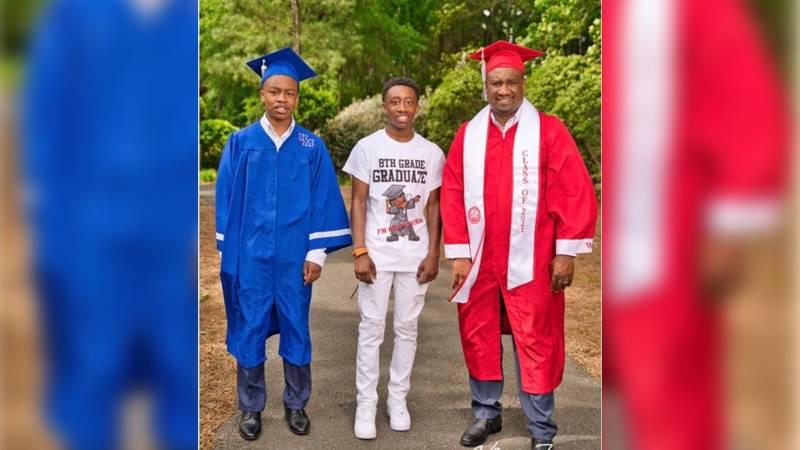 Three family members, three graduations