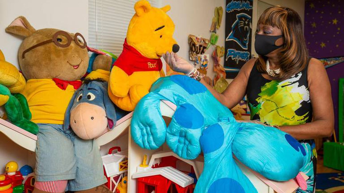 Phyllis Johnson, the director of Tots Round the Clock stands in the playroom on Thursday, July...