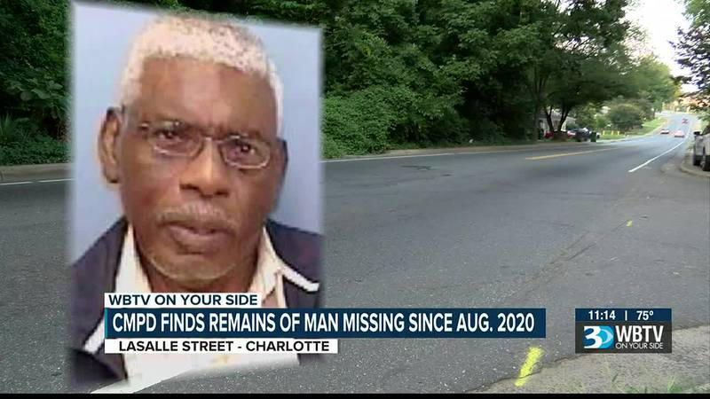 Skeletal remains found in Charlotte, identified as 78-year-old man missing since August 2020