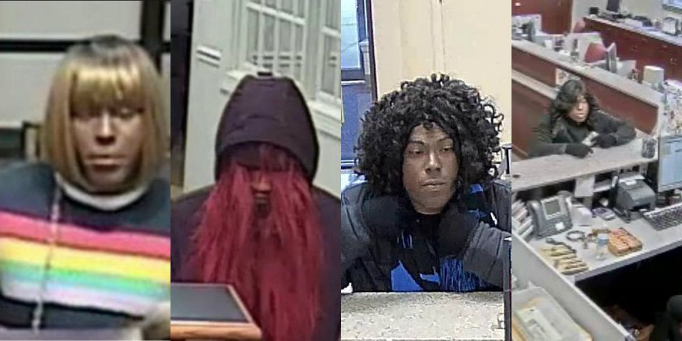 """The FBI says the """"Bad Wig Bandit"""" has robbed a fourth bank in North Carolina, and is now..."""