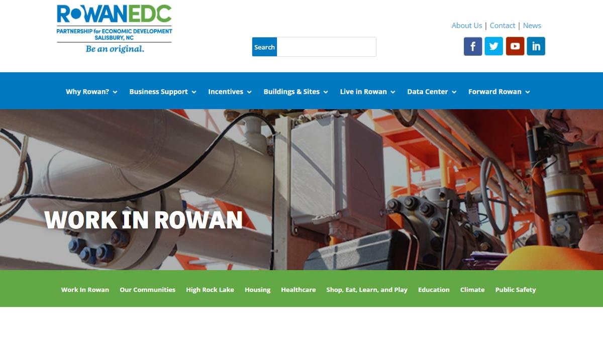 The Rowan-Salisbury Economic Development Commission has launched a new Work in Rowan job...